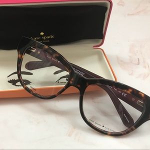 • New Women's Kate Spade Glasses With Box And Rag•